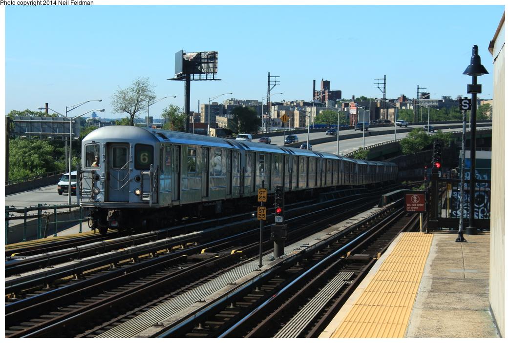 (340k, 1044x703)<br><b>Country:</b> United States<br><b>City:</b> New York<br><b>System:</b> New York City Transit<br><b>Line:</b> IRT Pelham Line<br><b>Location:</b> Whitlock Avenue <br><b>Route:</b> 6<br><b>Car:</b> R-62A (Bombardier, 1984-1987)  1766 <br><b>Photo by:</b> Neil Feldman<br><b>Date:</b> 6/6/2014<br><b>Viewed (this week/total):</b> 1 / 1329
