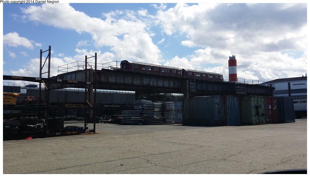 (232k, 1044x596)<br><b>Country:</b> United States<br><b>City:</b> New York<br><b>System:</b> New York City Transit<br><b>Location:</b> MTA Tiffany Iron Works/The Bronx<br><b>Car:</b> R-33 Main Line (St. Louis, 1962-63) 8912/8913 <br><b>Photo by:</b> Daniel Negron<br><b>Date:</b> 6/5/2014<br><b>Viewed (this week/total):</b> 0 / 1340