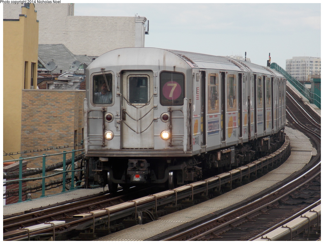(382k, 1044x788)<br><b>Country:</b> United States<br><b>City:</b> New York<br><b>System:</b> New York City Transit<br><b>Line:</b> IRT Flushing Line<br><b>Location:</b> 103rd Street/Corona Plaza <br><b>Route:</b> 7<br><b>Car:</b> R-62A (Bombardier, 1984-1987)  1711 <br><b>Photo by:</b> Nicholas Noel<br><b>Date:</b> 5/18/2013<br><b>Viewed (this week/total):</b> 1 / 944