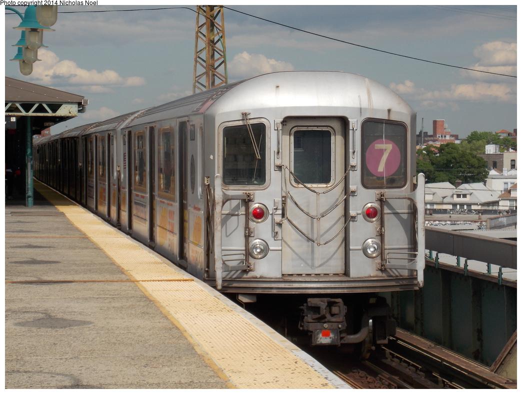 (367k, 1044x788)<br><b>Country:</b> United States<br><b>City:</b> New York<br><b>System:</b> New York City Transit<br><b>Line:</b> IRT Flushing Line<br><b>Location:</b> 61st Street/Woodside <br><b>Route:</b> 7<br><b>Car:</b> R-62A (Bombardier, 1984-1987)  1711 <br><b>Photo by:</b> Nicholas Noel<br><b>Date:</b> 5/18/2013<br><b>Viewed (this week/total):</b> 1 / 805
