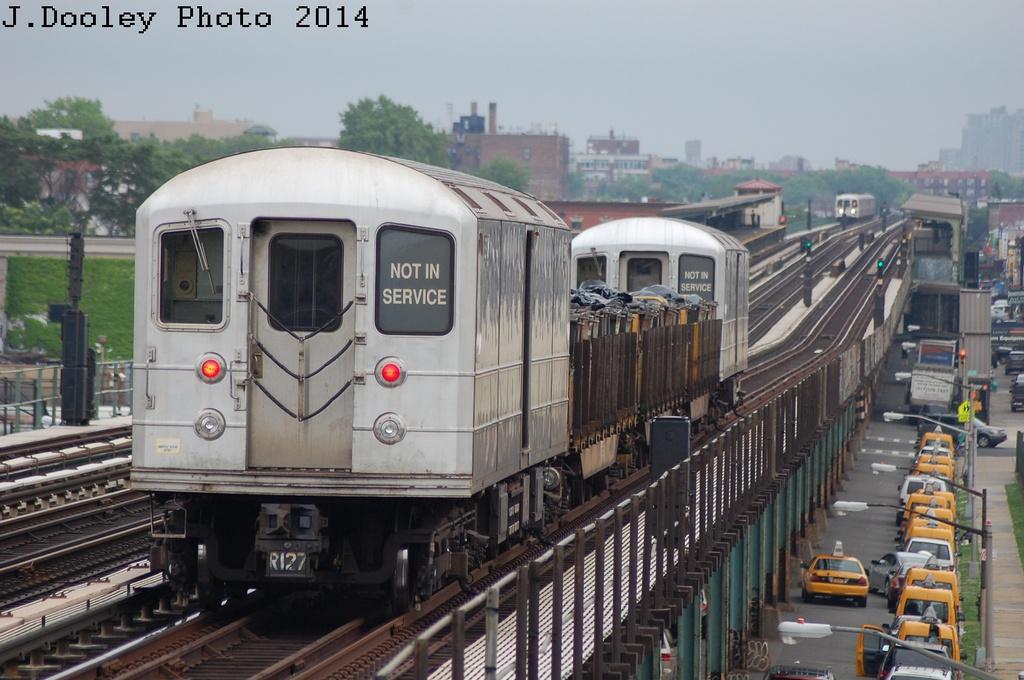 (293k, 1024x680)<br><b>Country:</b> United States<br><b>City:</b> New York<br><b>System:</b> New York City Transit<br><b>Line:</b> BMT Culver Line<br><b>Location:</b> Bay Parkway (22nd Avenue) <br><b>Route:</b> Work Service<br><b>Car:</b> R-127/R-134 (Kawasaki, 1991-1996) EP009 <br><b>Photo by:</b> John Dooley<br><b>Date:</b> 6/9/2014<br><b>Viewed (this week/total):</b> 0 / 1027