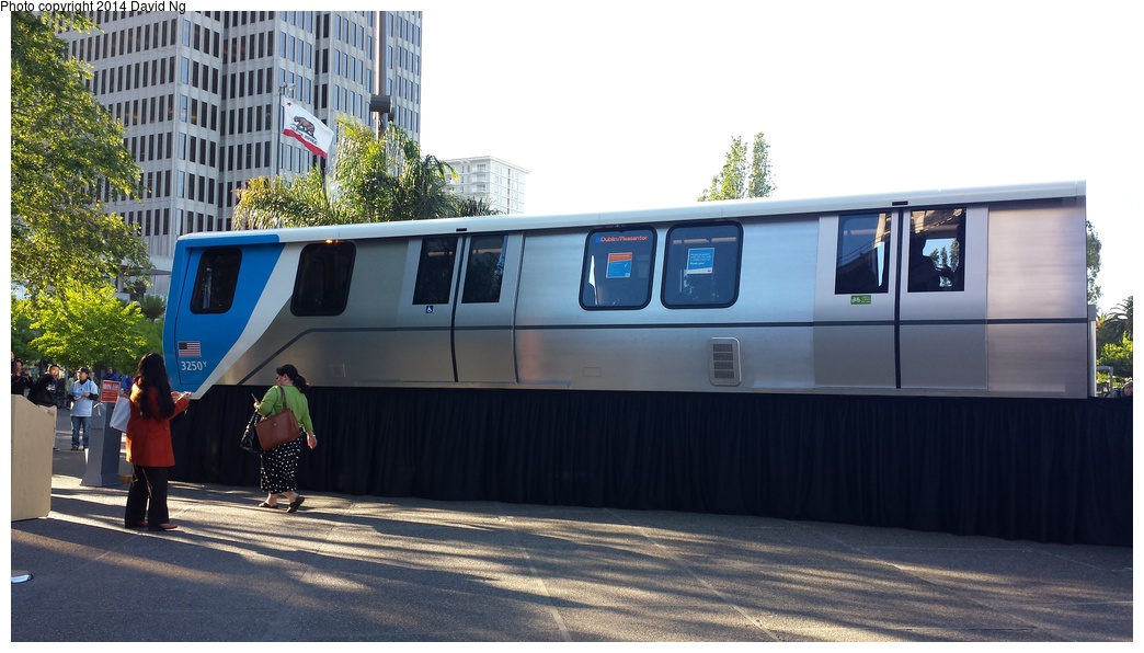 (246k, 1044x596)<br><b>Country:</b> United States<br><b>City:</b> San Francisco/Bay Area, CA<br><b>System:</b> BART<br><b>Car:</b> BART - New Rolling Stock  <br><b>Photo by:</b> David Ng<br><b>Date:</b> 4/16/2014<br><b>Notes:</b> New BART train mockup<br><b>Viewed (this week/total):</b> 1 / 1852