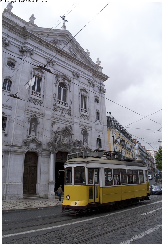 (253k, 699x1044)<br><b>Country:</b> Portugal<br><b>City:</b> Lisbon<br><b>System:</b> Companhia Carris De Ferro De Lisboa <br><b>Line:</b> 28 (Alfama via Martim Moniz - Prazares) <br><b>Location:</b> Praça Luis de Camões<br><b>Car:</b> Standard Tram Remodelado (Carris Rebuild)  574 <br><b>Photo by:</b> David Pirmann<br><b>Date:</b> 4/26/2014<br><b>Viewed (this week/total):</b> 0 / 368