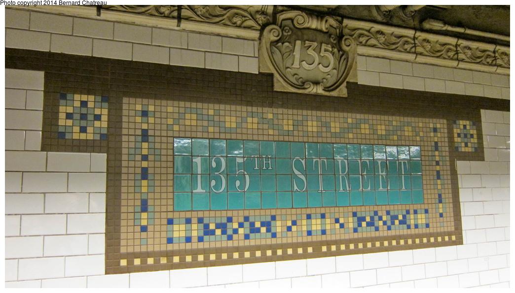 (263k, 1044x595)<br><b>Country:</b> United States<br><b>City:</b> New York<br><b>System:</b> New York City Transit<br><b>Line:</b> IRT Lenox Avenue Line<br><b>Location:</b> 135th Street<br><b>Photo by:</b> Bernard Chatreau<br><b>Date:</b> 9/23/2011<br><b>Viewed (this week/total):</b> 0 / 1346