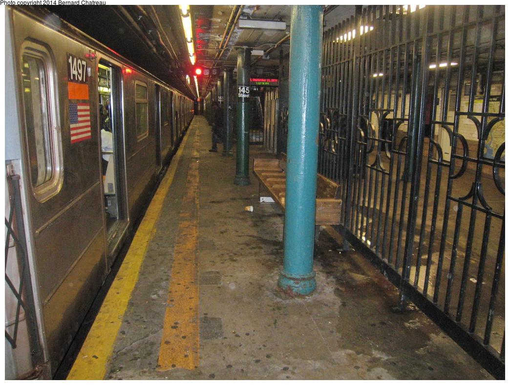 (401k, 1044x788)<br><b>Country:</b> United States<br><b>City:</b> New York<br><b>System:</b> New York City Transit<br><b>Line:</b> IRT Lenox Line<br><b>Location:</b> 145th Street <br><b>Route:</b> 3<br><b>Photo by:</b> Bernard Chatreau<br><b>Date:</b> 9/23/2011<br><b>Viewed (this week/total):</b> 1 / 982