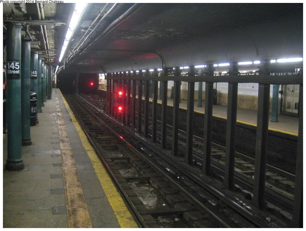 (319k, 1044x788)<br><b>Country:</b> United States<br><b>City:</b> New York<br><b>System:</b> New York City Transit<br><b>Line:</b> IRT Lenox Line<br><b>Location:</b> 145th Street <br><b>Photo by:</b> Bernard Chatreau<br><b>Date:</b> 9/23/2011<br><b>Viewed (this week/total):</b> 0 / 1082