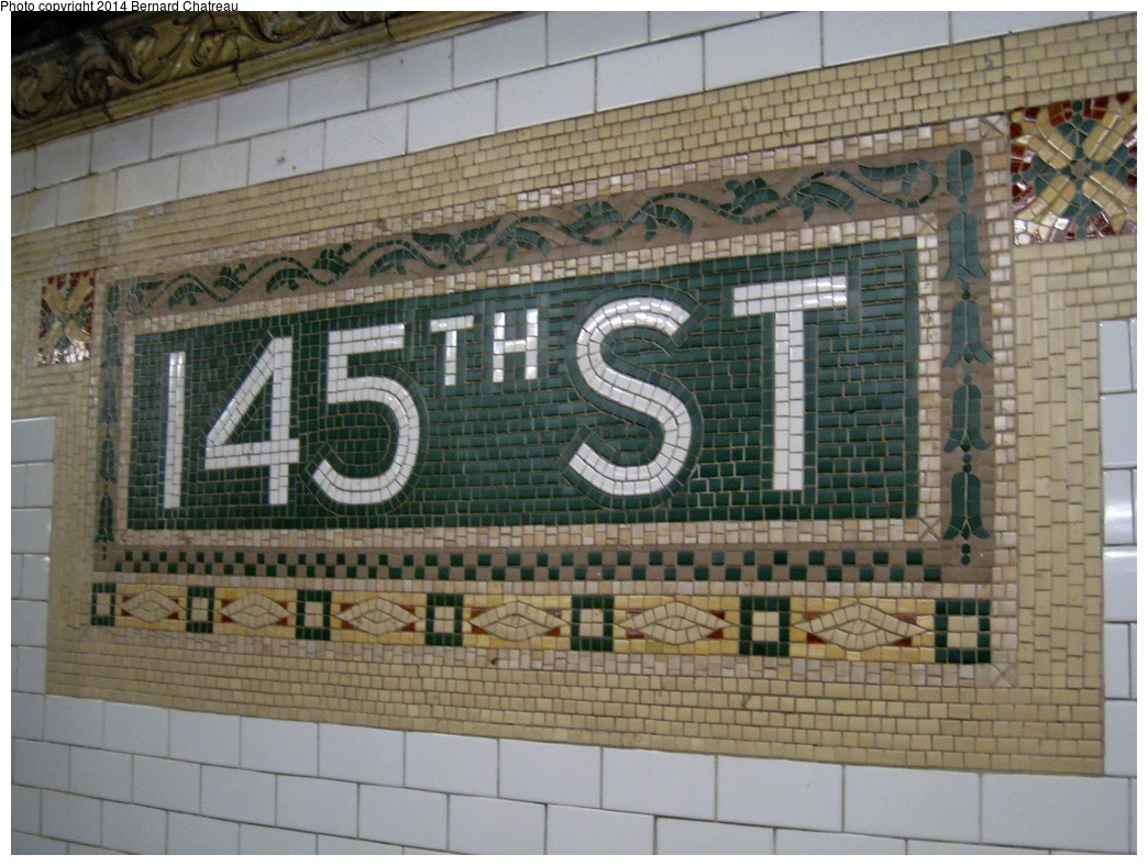 (348k, 1044x788)<br><b>Country:</b> United States<br><b>City:</b> New York<br><b>System:</b> New York City Transit<br><b>Line:</b> IRT Lenox Line<br><b>Location:</b> 145th Street <br><b>Photo by:</b> Bernard Chatreau<br><b>Date:</b> 9/23/2011<br><b>Viewed (this week/total):</b> 1 / 807