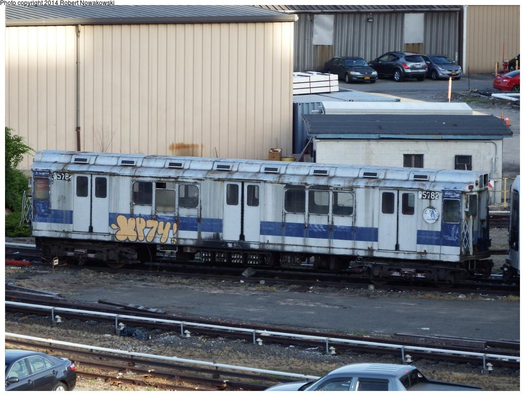 (348k, 1044x788)<br><b>Country:</b> United States<br><b>City:</b> New York<br><b>System:</b> New York City Transit<br><b>Location:</b> 207th Street Yard<br><b>Car:</b> R-12 (American Car & Foundry, 1948) 5782 <br><b>Photo by:</b> Robert Nowakowski<br><b>Date:</b> 6/20/2014<br><b>Viewed (this week/total):</b> 0 / 1098