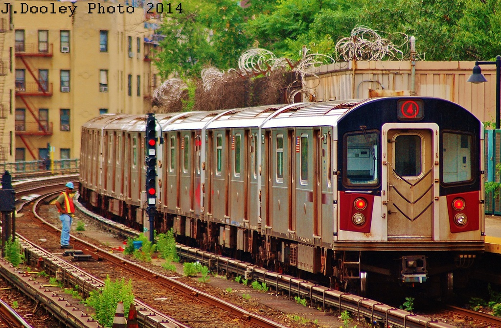 (441k, 1024x670)<br><b>Country:</b> United States<br><b>City:</b> New York<br><b>System:</b> New York City Transit<br><b>Line:</b> IRT Woodlawn Line<br><b>Location:</b> Bedford Park Boulevard <br><b>Route:</b> 4<br><b>Car:</b> R-142A (Option Order, Kawasaki, 2002-2003)  7716 <br><b>Photo by:</b> John Dooley<br><b>Date:</b> 6/19/2014<br><b>Viewed (this week/total):</b> 2 / 1107