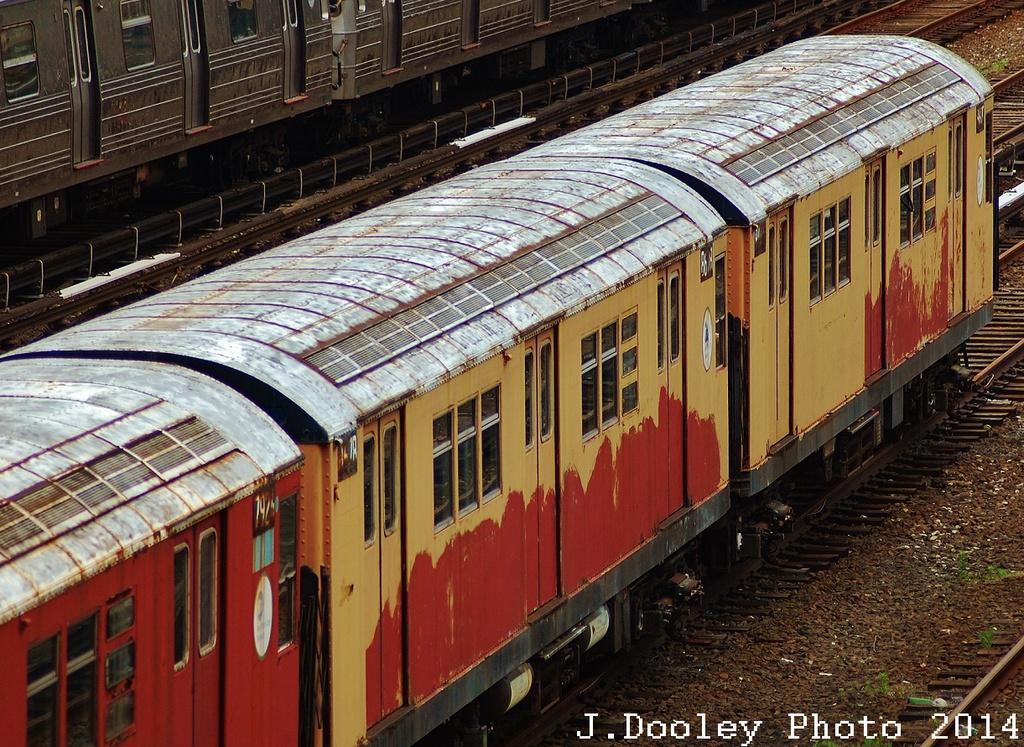 (453k, 1024x747)<br><b>Country:</b> United States<br><b>City:</b> New York<br><b>System:</b> New York City Transit<br><b>Location:</b> Concourse Yard<br><b>Car:</b> R-29 (St. Louis, 1962) 8678-79 <br><b>Photo by:</b> John Dooley<br><b>Date:</b> 6/19/2014<br><b>Viewed (this week/total):</b> 1 / 991