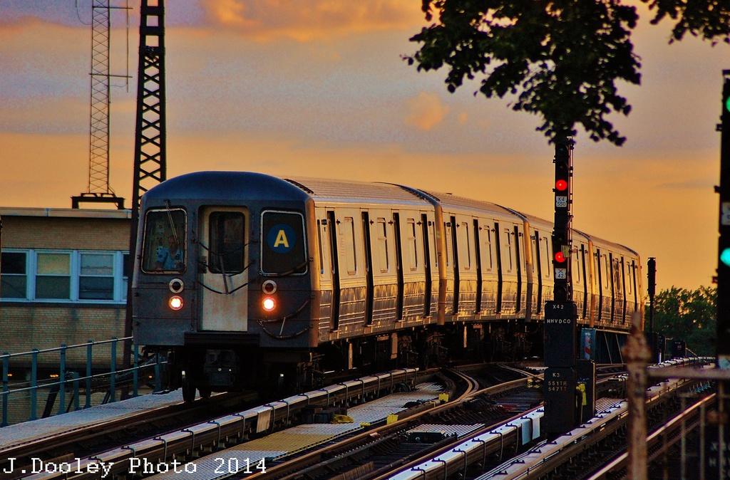 (359k, 1024x674)<br><b>Country:</b> United States<br><b>City:</b> New York<br><b>System:</b> New York City Transit<br><b>Line:</b> IND Fulton Street Line<br><b>Location:</b> 104th Street/Oxford Ave. <br><b>Route:</b> A<br><b>Car:</b> R-68A (Kawasaki, 1988-1989)  5014 <br><b>Photo by:</b> John Dooley<br><b>Date:</b> 6/26/2014<br><b>Viewed (this week/total):</b> 0 / 1392