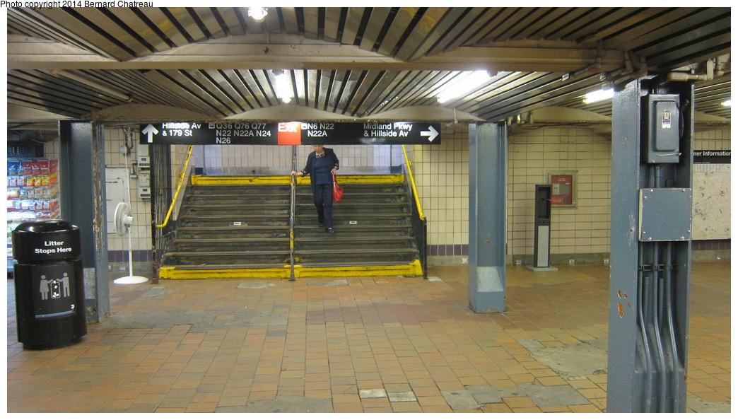 (271k, 1044x594)<br><b>Country:</b> United States<br><b>City:</b> New York<br><b>System:</b> New York City Transit<br><b>Line:</b> IND Queens Boulevard Line<br><b>Location:</b> 179th Street <br><b>Photo by:</b> Bernard Chatreau<br><b>Date:</b> 9/28/2011<br><b>Viewed (this week/total):</b> 0 / 1103