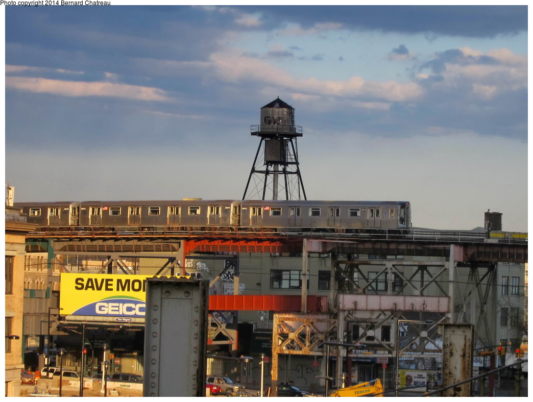(274k, 1044x788)<br><b>Country:</b> United States<br><b>City:</b> New York<br><b>System:</b> New York City Transit<br><b>Line:</b> BMT Astoria Line<br><b>Location:</b> Queensborough Plaza <br><b>Route:</b> N<br><b>Car:</b> R-160B (Kawasaki, 2005-2008)  8843 <br><b>Photo by:</b> Bernard Chatreau<br><b>Date:</b> 4/17/2011<br><b>Viewed (this week/total):</b> 0 / 947