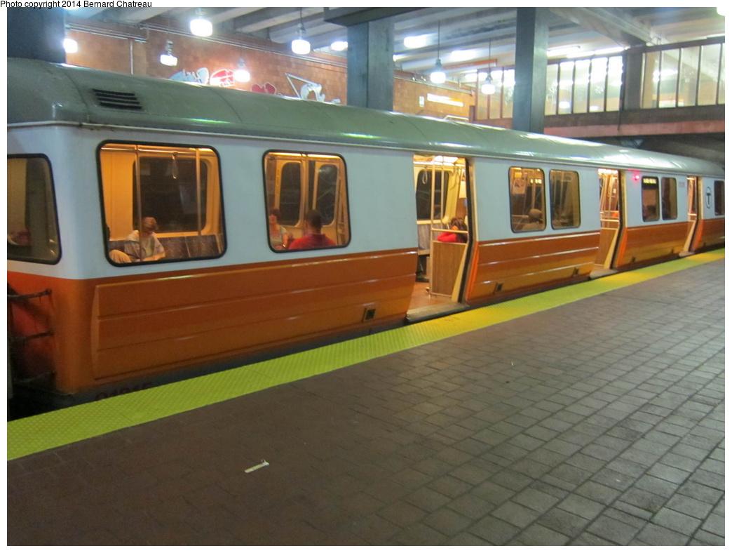 (265k, 1044x788)<br><b>Country:</b> United States<br><b>City:</b> Boston, MA<br><b>System:</b> MBTA<br><b>Line:</b> MBTA Orange Line<br><b>Location:</b> NE Medical Center <br><b>Car:</b> MBTA 01200 Series (Hawker-Siddley, 1980-1981)  01315 <br><b>Photo by:</b> Bernard Chatreau<br><b>Date:</b> 9/30/2011<br><b>Viewed (this week/total):</b> 0 / 489