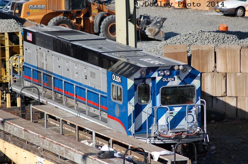 (390k, 1024x680)<br><b>Country:</b> United States<br><b>City:</b> New York<br><b>System:</b> New York City Transit<br><b>Location:</b> 207th Street Yard<br><b>Car:</b> R-156 Diesel-Electric Locomotive (MPI, 2012-2013) 924 <br><b>Photo by:</b> John Dooley<br><b>Date:</b> 6/26/2014<br><b>Viewed (this week/total):</b> 0 / 829