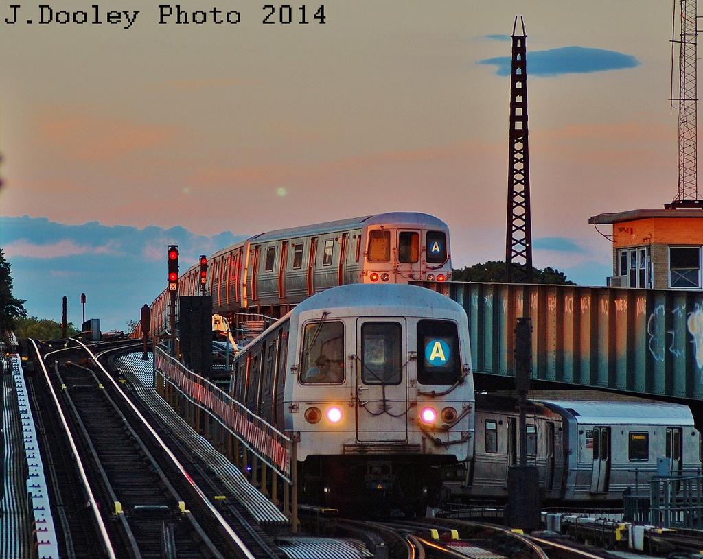 (385k, 1024x815)<br><b>Country:</b> United States<br><b>City:</b> New York<br><b>System:</b> New York City Transit<br><b>Line:</b> IND Fulton Street Line<br><b>Location:</b> Rockaway Boulevard <br><b>Route:</b> A<br><b>Car:</b> R-46 (Pullman-Standard, 1974-75) 5958 <br><b>Photo by:</b> John Dooley<br><b>Date:</b> 6/26/2014<br><b>Viewed (this week/total):</b> 0 / 1207