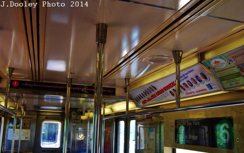 (310k, 1024x641)<br><b>Country:</b> United States<br><b>City:</b> New York<br><b>System:</b> New York City Transit<br><b>Route:</b> 6<br><b>Car:</b> R-62A (Bombardier, 1984-1987)  2326 <br><b>Photo by:</b> John Dooley<br><b>Date:</b> 6/26/2014<br><b>Viewed (this week/total):</b> 0 / 1423