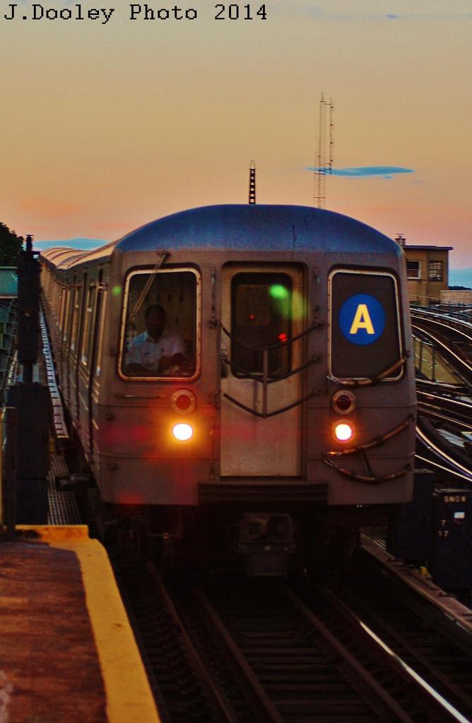 (252k, 668x1024)<br><b>Country:</b> United States<br><b>City:</b> New York<br><b>System:</b> New York City Transit<br><b>Line:</b> IND Fulton Street Line<br><b>Location:</b> Rockaway Boulevard <br><b>Route:</b> A<br><b>Car:</b> R-68A (Kawasaki, 1988-1989)   <br><b>Photo by:</b> John Dooley<br><b>Date:</b> 6/26/2014<br><b>Viewed (this week/total):</b> 0 / 1203