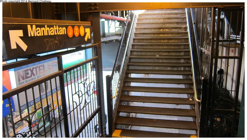 (288k, 1044x595)<br><b>Country:</b> United States<br><b>City:</b> New York<br><b>System:</b> New York City Transit<br><b>Line:</b> BMT Nassau Street/Jamaica Line<br><b>Location:</b> Myrtle Avenue <br><b>Photo by:</b> Bernard Chatreau<br><b>Date:</b> 4/11/2011<br><b>Viewed (this week/total):</b> 3 / 956