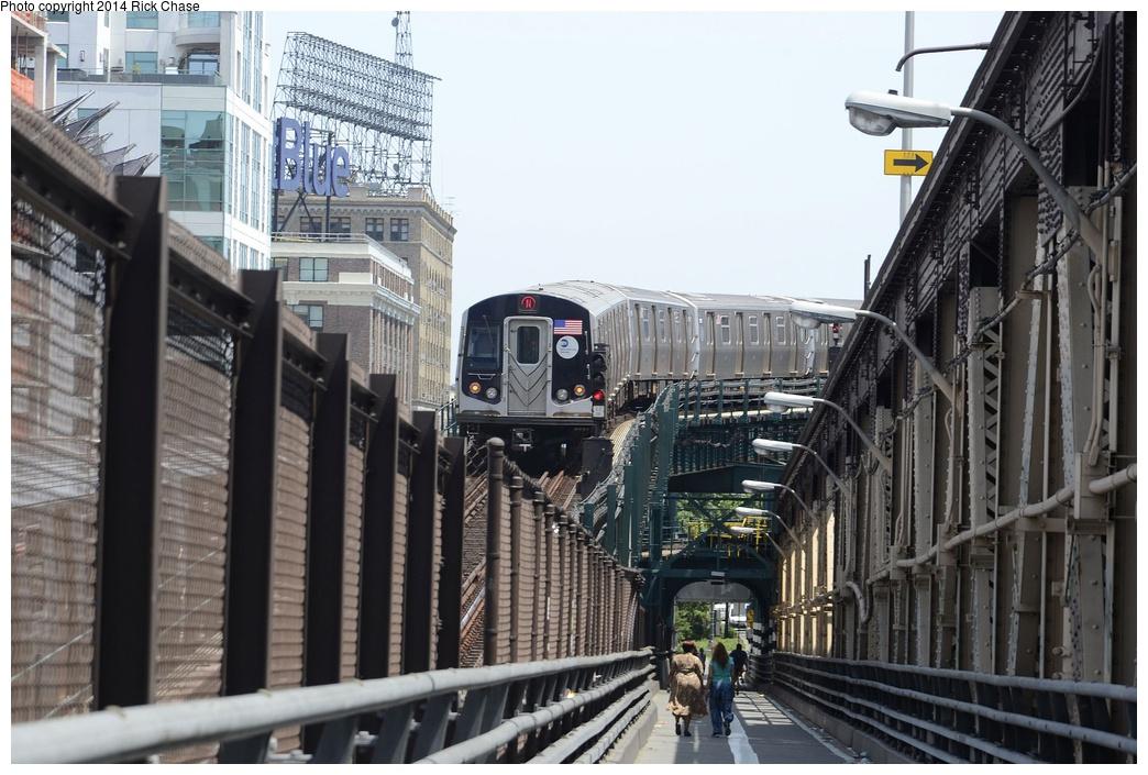 (301k, 1044x705)<br><b>Country:</b> United States<br><b>City:</b> New York<br><b>System:</b> New York City Transit<br><b>Line:</b> BMT Astoria Line<br><b>Location:</b> Queensborough Plaza <br><b>Route:</b> N<br><b>Car:</b> R-160B (Kawasaki, 2005-2008)  8793 <br><b>Photo by:</b> Richard Chase<br><b>Date:</b> 6/30/2014<br><b>Viewed (this week/total):</b> 0 / 3339