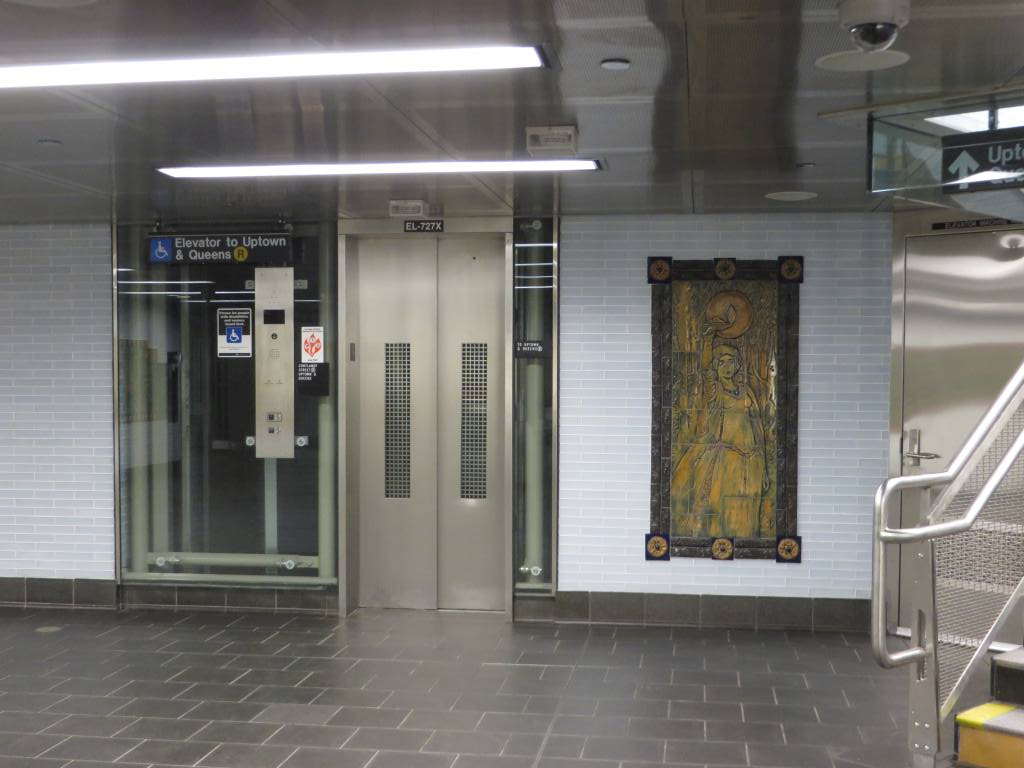 (102k, 1024x768)<br><b>Country:</b> United States<br><b>City:</b> New York<br><b>System:</b> New York City Transit<br><b>Line:</b> BMT Broadway Line<br><b>Location:</b> Cortlandt Street-World Trade Center <br><b>Photo by:</b> Robbie Rosenfeld<br><b>Date:</b> 11/10/2014<br><b>Artwork:</b> <i>Trade, Treasure, and Travel</i>, Margie Hughto (1997).<br><b>Viewed (this week/total):</b> 1 / 868