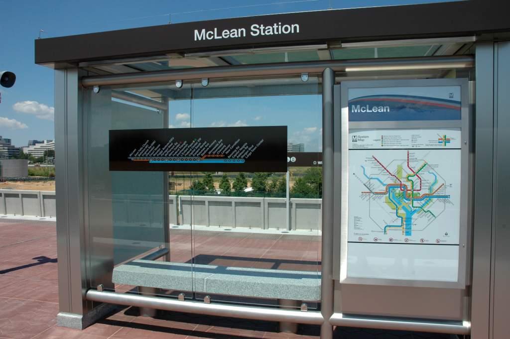 (107k, 1024x681)<br><b>Country:</b> United States<br><b>City:</b> Washington, D.C.<br><b>System:</b> Washington Metro (WMATA)<br><b>Line:</b> WMATA Silver Line<br><b>Location:</b> McLean <br><b>Photo by:</b> John Cambron<br><b>Date:</b> 7/26/2014<br><b>Notes:</b> Shelter east end of platfrom McLean<br><b>Viewed (this week/total):</b> 0 / 771