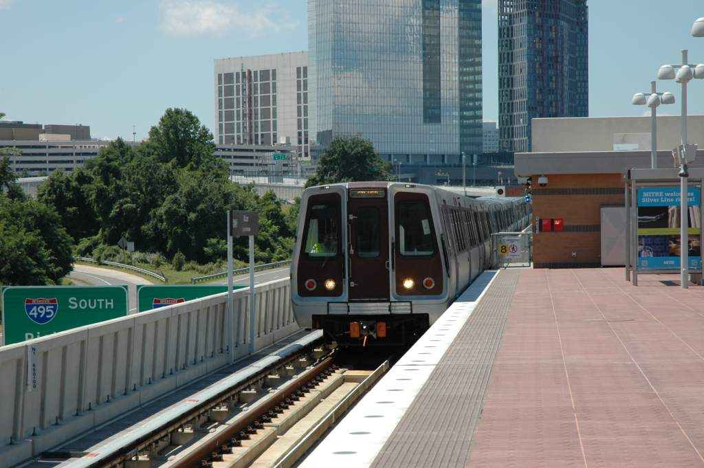 (120k, 1024x681)<br><b>Country:</b> United States<br><b>City:</b> Washington, D.C.<br><b>System:</b> Washington Metro (WMATA)<br><b>Line:</b> WMATA Silver Line<br><b>Location:</b> McLean <br><b>Photo by:</b> John Cambron<br><b>Date:</b> 7/26/2014<br><b>Notes:</b> 5000 series eastbound track N1 McLean<br><b>Viewed (this week/total):</b> 2 / 987