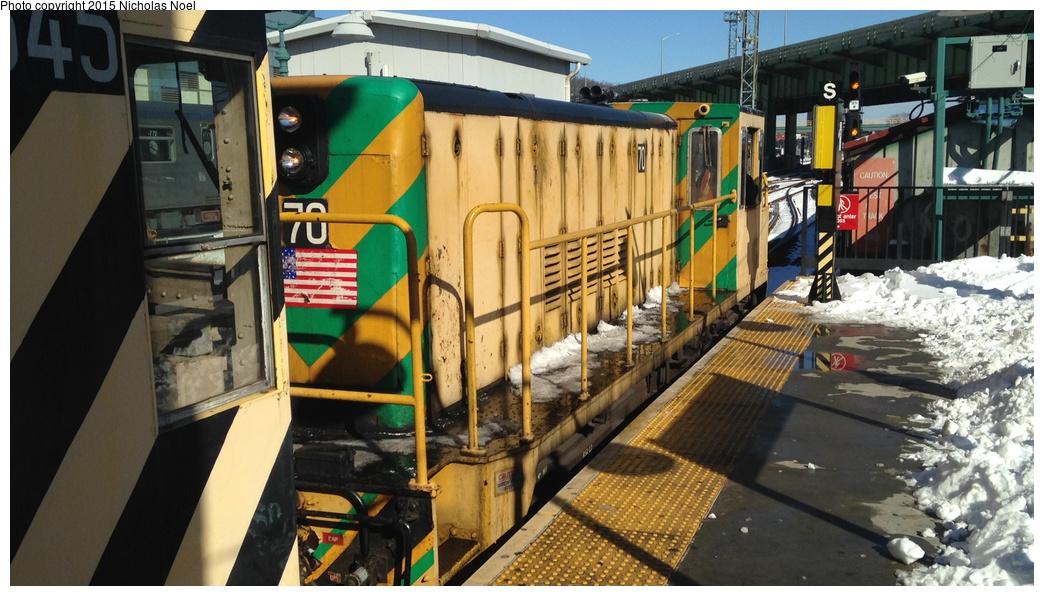 (280k, 1044x596)<br><b>Country:</b> United States<br><b>City:</b> New York<br><b>System:</b> New York City Transit<br><b>Line:</b> IRT White Plains Road Line<br><b>Location:</b> East 180th Street<br><b>Route:</b> Work Service<br><b>Car:</b> R-47 Locomotive 70 <br><b>Photo by:</b> Nicholas Noel<br><b>Date:</b> 1/28/2015<br><b>Viewed (this week/total):</b> 6 / 1024