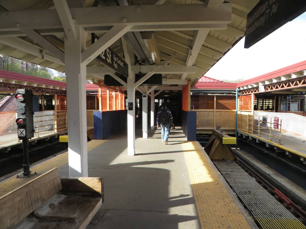 (123k, 1024x768)<br><b>Country:</b> United States<br><b>City:</b> New York<br><b>System:</b> New York City Transit<br><b>Line:</b> IRT West Side Line<br><b>Location:</b> 242nd Street/Van Cortlandt Park <br><b>Photo by:</b> Robbie Rosenfeld<br><b>Date:</b> 4/27/2015<br><b>Notes:</b> Station renovations<br><b>Viewed (this week/total):</b> 0 / 1721