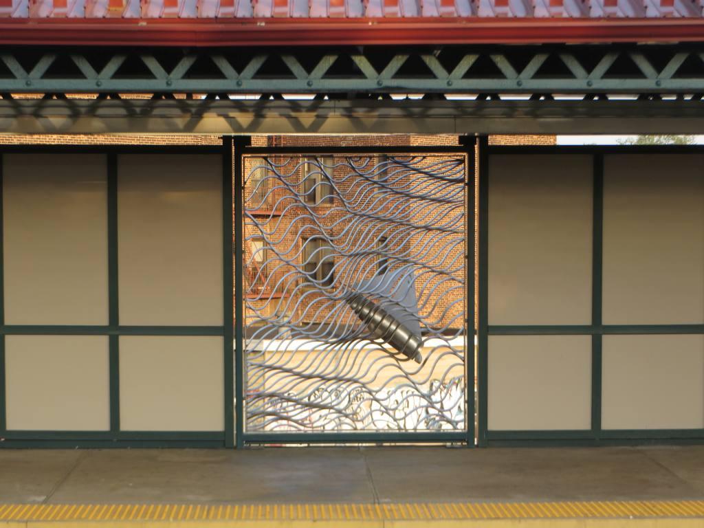 (113k, 1024x768)<br><b>Country:</b> United States<br><b>City:</b> New York<br><b>System:</b> New York City Transit<br><b>Line:</b> IRT Pelham Line<br><b>Location:</b> Middletown Road <br><b>Photo by:</b> Robbie Rosenfeld<br><b>Date:</b> 5/12/2015<br><b>Artwork:</b> <i>Cross-Bronx Waterway</i>,  Schachter/Levi (2015).<br><b>Viewed (this week/total):</b> 3 / 662