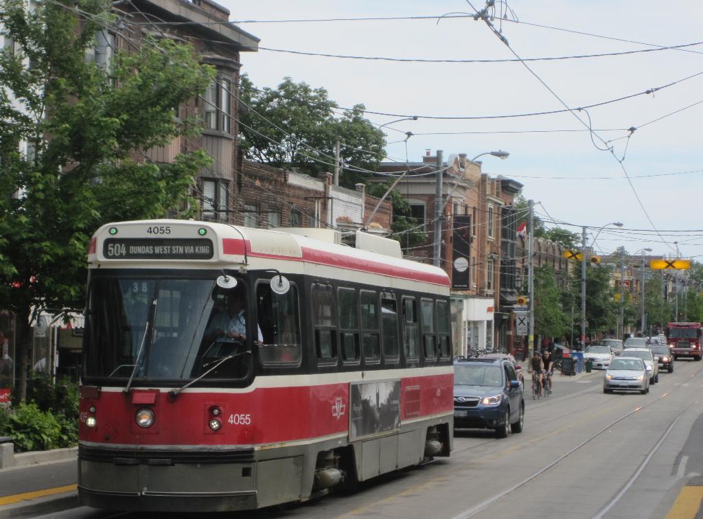 (125k, 1024x756)<br><b>Country:</b> Canada<br><b>City:</b> Toronto<br><b>System:</b> TTC<br><b>Line:</b> TTC 504-King<br><b>Location:</b> Roncesvalles/Howard Park <br><b>Car:</b> TTC CLRV 4055 <br><b>Photo by:</b> Collection of nycsubway.org <br><b>Date:</b> 7/3/2015<br><b>Notes:</b> Westbound. <br><b>Viewed (this week/total):</b> 2 / 550