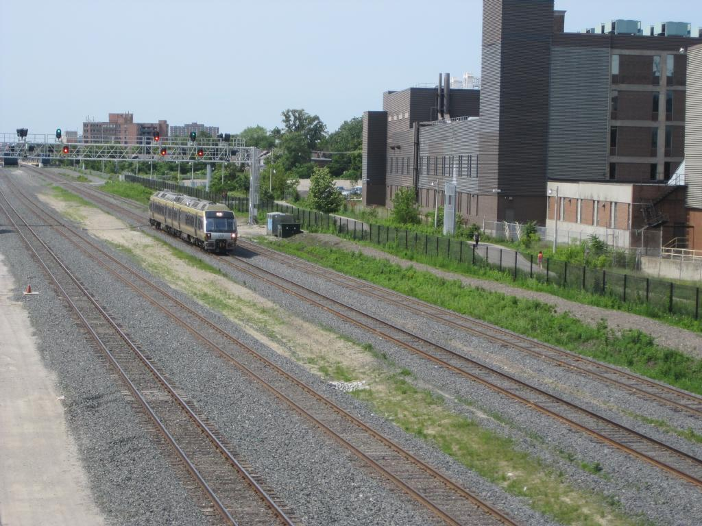 (146k, 1024x768)<br><b>Country:</b> Canada<br><b>City:</b> Toronto<br><b>System:</b> Union-Pearson Express<br><b>Photo by:</b> Collection of nycsubway.org<br><b>Date:</b> 7/3/2015<br><b>Notes:</b> Train from the airport to Union accelerating out of Bloor station.  Lead car is 1002.<br><b>Viewed (this week/total):</b> 0 / 1061