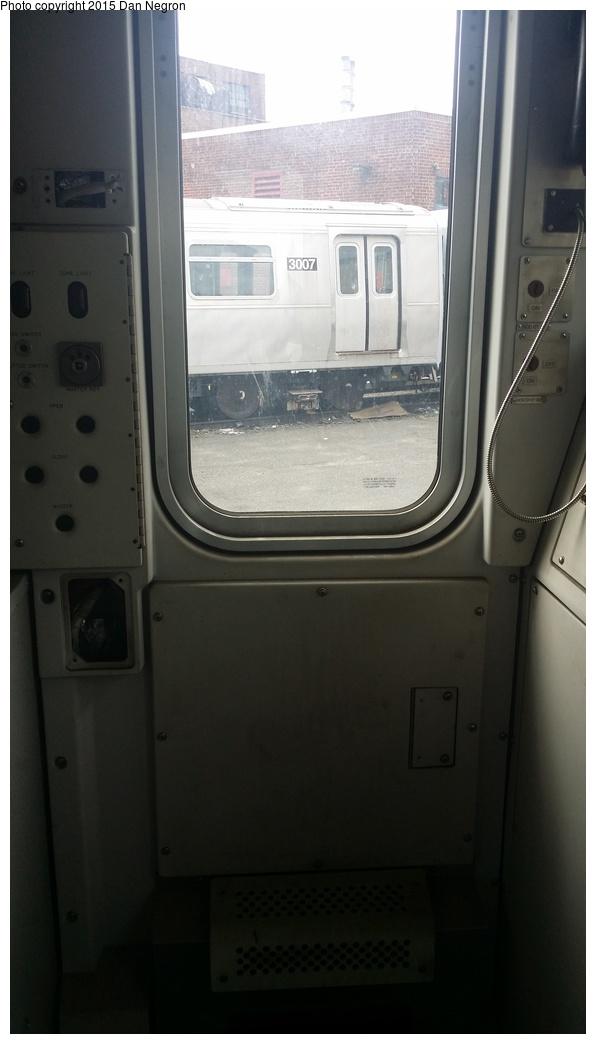 (158k, 596x1044)<br><b>Country:</b> United States<br><b>City:</b> New York<br><b>System:</b> New York City Transit<br><b>Location:</b> 207th Street Yard<br><b>Car:</b> R-110A (Kawasaki, 1992) 8010 <br><b>Photo by:</b> Daniel Negron<br><b>Date:</b> 6/13/2015<br><b>Notes:</b> Cab car of R-110A set; middle cars repurposed as pump/reach cars.<br><b>Viewed (this week/total):</b> 1 / 817