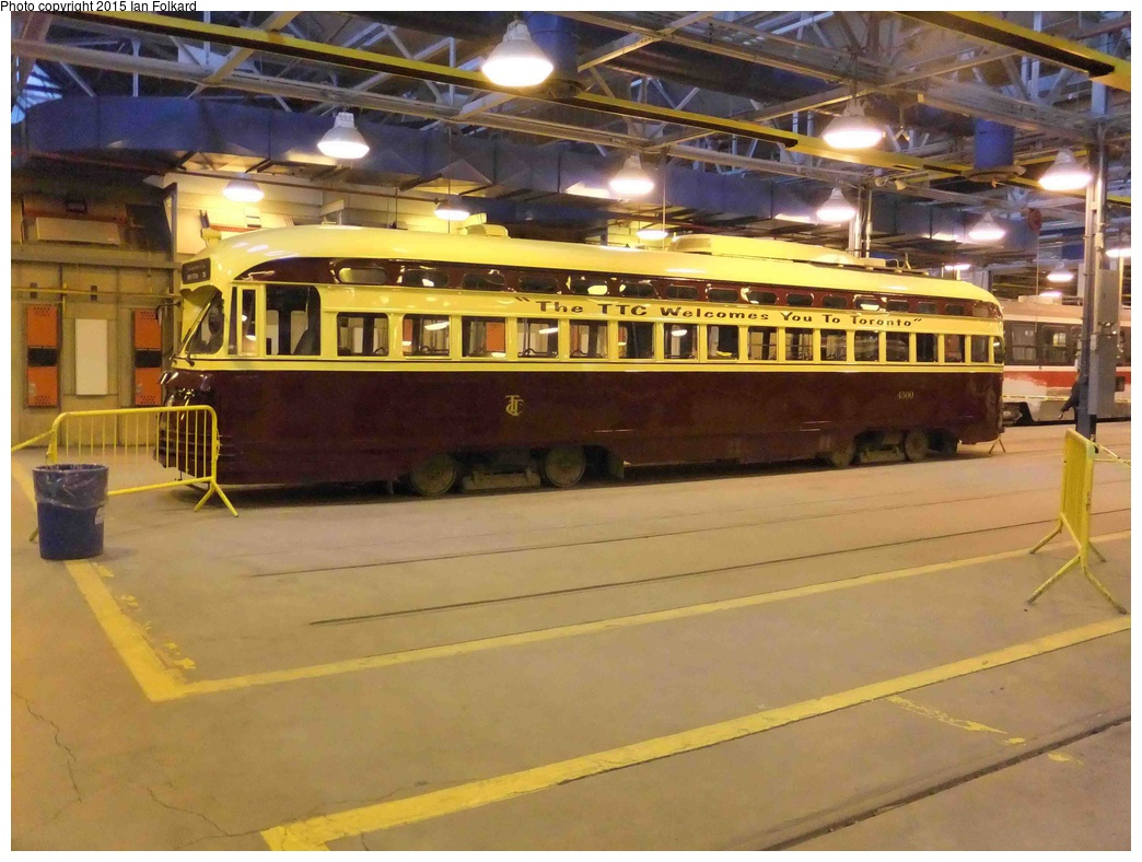 (309k, 1044x788)<br><b>Country:</b> Canada<br><b>City:</b> Toronto<br><b>System:</b> TTC<br><b>Line:</b> TTC 510-Spadina<br><b>Car:</b> PCC (TTC Toronto) 4500 <br><b>Photo by:</b> Ian Folkard<br><b>Date:</b> 11/23/2013<br><b>Notes:</b> Hillcrest shops<br><b>Viewed (this week/total):</b> 0 / 461