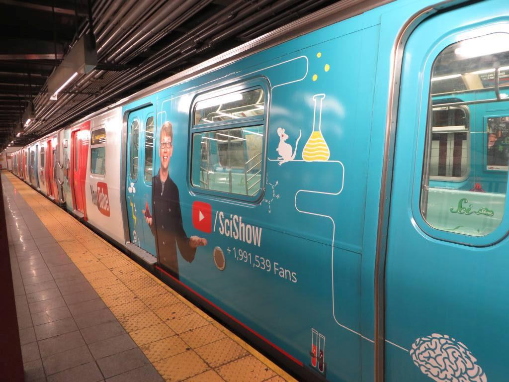 (171k, 1024x768)<br><b>Country:</b> United States<br><b>City:</b> New York<br><b>System:</b> New York City Transit<br><b>Line:</b> BMT Canarsie Line<br><b>Location:</b> 8th Avenue <br><b>Route:</b> L<br><b>Car:</b> R-143 (Kawasaki, 2001-2002) 8117 <br><b>Photo by:</b> Robbie Rosenfeld<br><b>Date:</b> 11/5/2014<br><b>Notes:</b> Youtube wrap<br><b>Viewed (this week/total):</b> 5 / 986