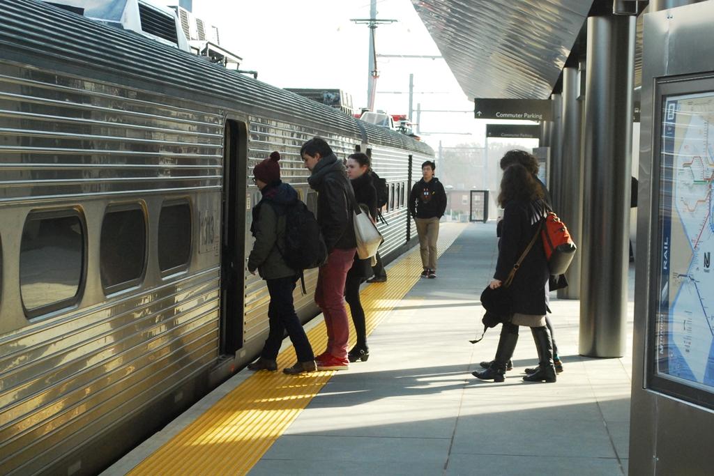 (569k, 1024x683)<br><b>Country:</b> United States<br><b>System:</b> Northeast Corridor (NJ) (Amtrak/NJTransit)<br><b>Line:</b> Northeast Corridor<br><b>Location:</b> Princeton<br><b>Car:</b> NJT Arrow III (EMU) 1312 <br><b>Photo by:</b> Lee Winson<br><b>Date:</b> 11/22/2014<br><b>Notes:</b> New station.<br><b>Viewed (this week/total):</b> 2 / 905