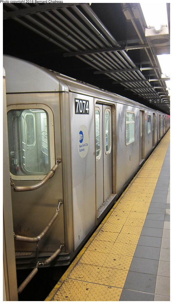 (224k, 595x1045)<br><b>Country:</b> United States<br><b>City:</b> New York<br><b>System:</b> New York City Transit<br><b>Line:</b> IRT Brooklyn Line<br><b>Location:</b> Utica Avenue <br><b>Car:</b> R-142 (Option Order, Bombardier, 2002-2003)  7074 <br><b>Photo by:</b> Bernard Chatreau<br><b>Date:</b> 10/5/2011<br><b>Viewed (this week/total):</b> 1 / 567