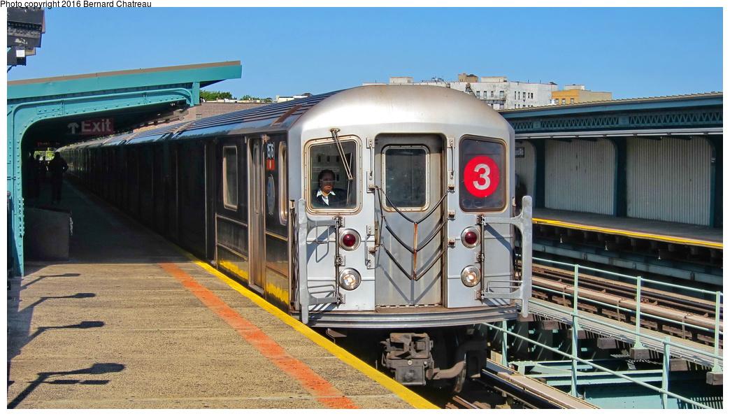 (290k, 1044x595)<br><b>Country:</b> United States<br><b>City:</b> New York<br><b>System:</b> New York City Transit<br><b>Line:</b> IRT Brooklyn Line<br><b>Location:</b> Sutter Avenue/Rutland Road <br><b>Route:</b> 3<br><b>Car:</b> R-62 (Kawasaki, 1983-1985)  1576 <br><b>Photo by:</b> Bernard Chatreau<br><b>Date:</b> 10/5/2011<br><b>Viewed (this week/total):</b> 0 / 888