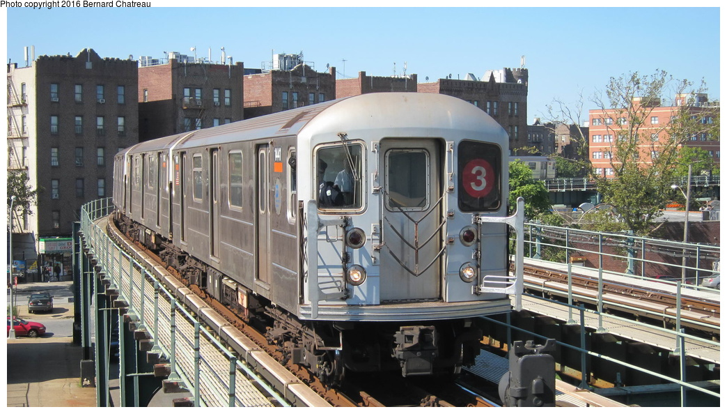 (311k, 1044x594)<br><b>Country:</b> United States<br><b>City:</b> New York<br><b>System:</b> New York City Transit<br><b>Line:</b> IRT Brooklyn Line<br><b>Location:</b> Saratoga Avenue<br><b>Route:</b> 3<br><b>Car:</b> R-62 (Kawasaki, 1983-1985) 1441 <br><b>Photo by:</b> Bernard Chatreau<br><b>Date:</b> 10/5/2011<br><b>Viewed (this week/total):</b> 0 / 963