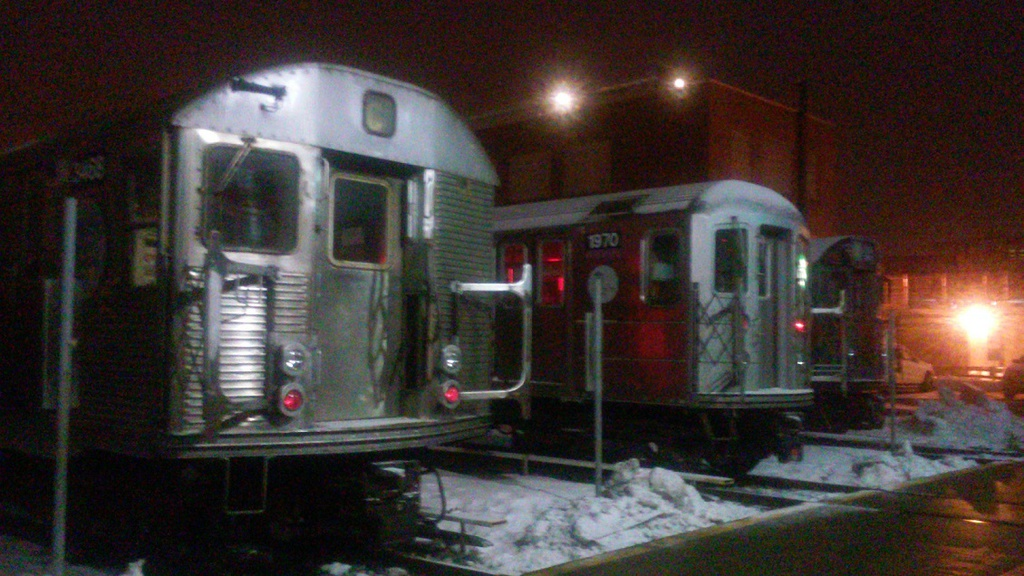(271k, 1024x576)<br><b>Country:</b> United States<br><b>City:</b> New York<br><b>System:</b> New York City Transit<br><b>Location:</b> 207th Street Yard<br><b>Car:</b> R-32 (Budd, 1964)  3466 <br><b>Photo by:</b> John Dooley<br><b>Date:</b> 2/14/2015<br><b>Viewed (this week/total):</b> 4 / 865