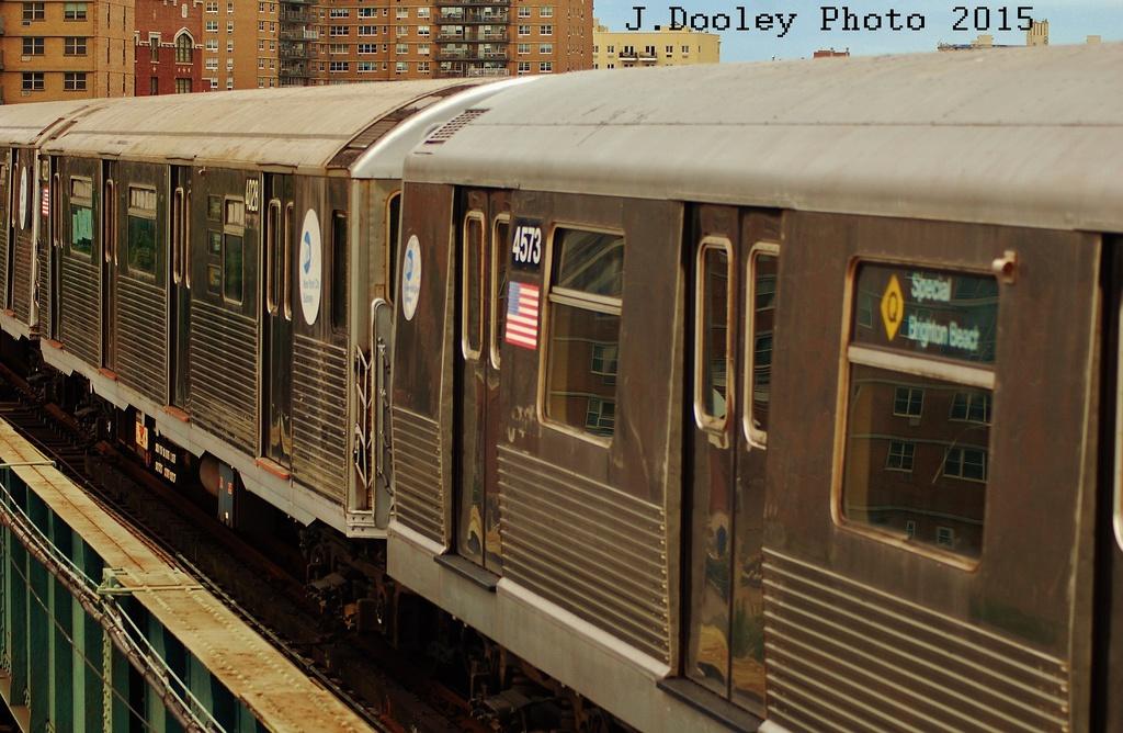 (329k, 1024x668)<br><b>Country:</b> United States<br><b>City:</b> New York<br><b>System:</b> New York City Transit<br><b>Line:</b> BMT Brighton Line<br><b>Location:</b> West 8th Street<br><b>Route:</b> Fan Trip<br><b>Car:</b> R-42 (St. Louis, 1969-1970) 4573 <br><b>Photo by:</b> John Dooley<br><b>Date:</b> 6/28/2015<br><b>Viewed (this week/total):</b> 0 / 1026