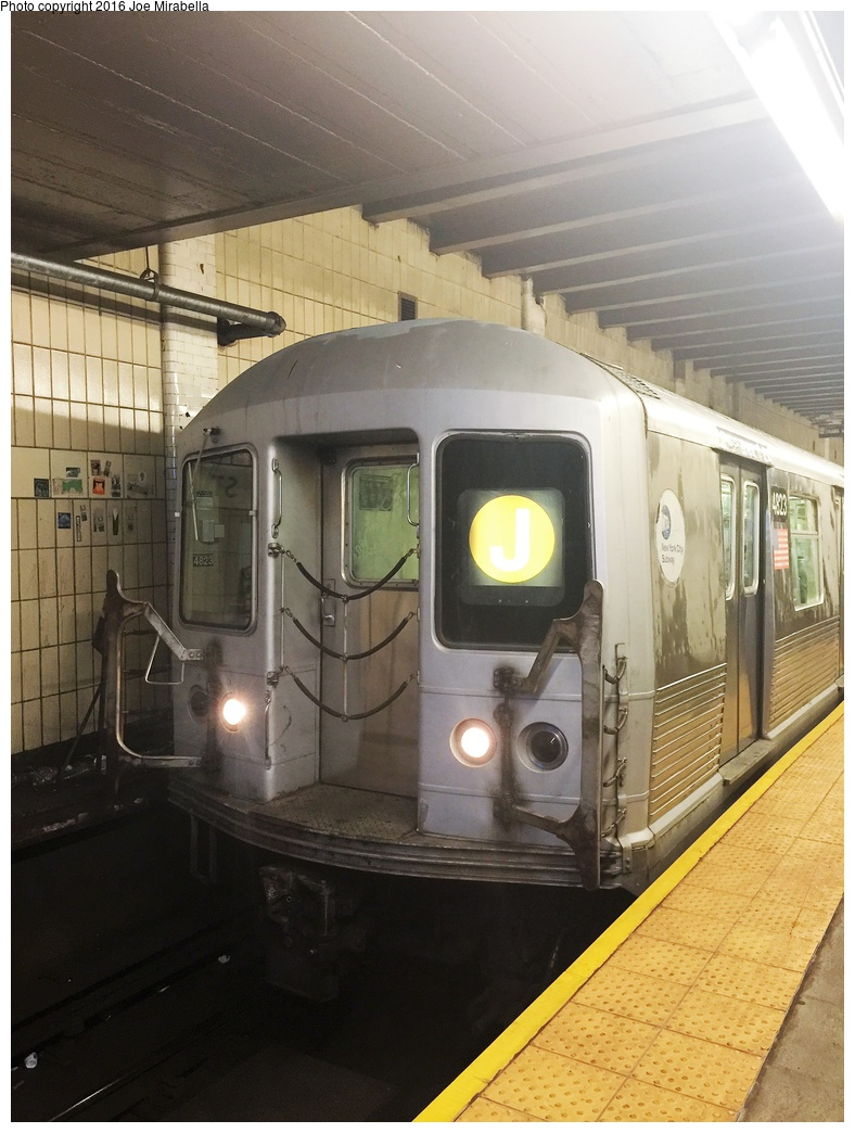 (301k, 788x1044)<br><b>Country:</b> United States<br><b>City:</b> New York<br><b>System:</b> New York City Transit<br><b>Line:</b> BMT Nassau Street/Jamaica Line<br><b>Location:</b> Chambers Street <br><b>Route:</b> J<br><b>Car:</b> R-42 (St. Louis, 1969-1970)  4823 <br><b>Photo by:</b> Joe Mirabella<br><b>Date:</b> 10/10/2015<br><b>Viewed (this week/total):</b> 0 / 912
