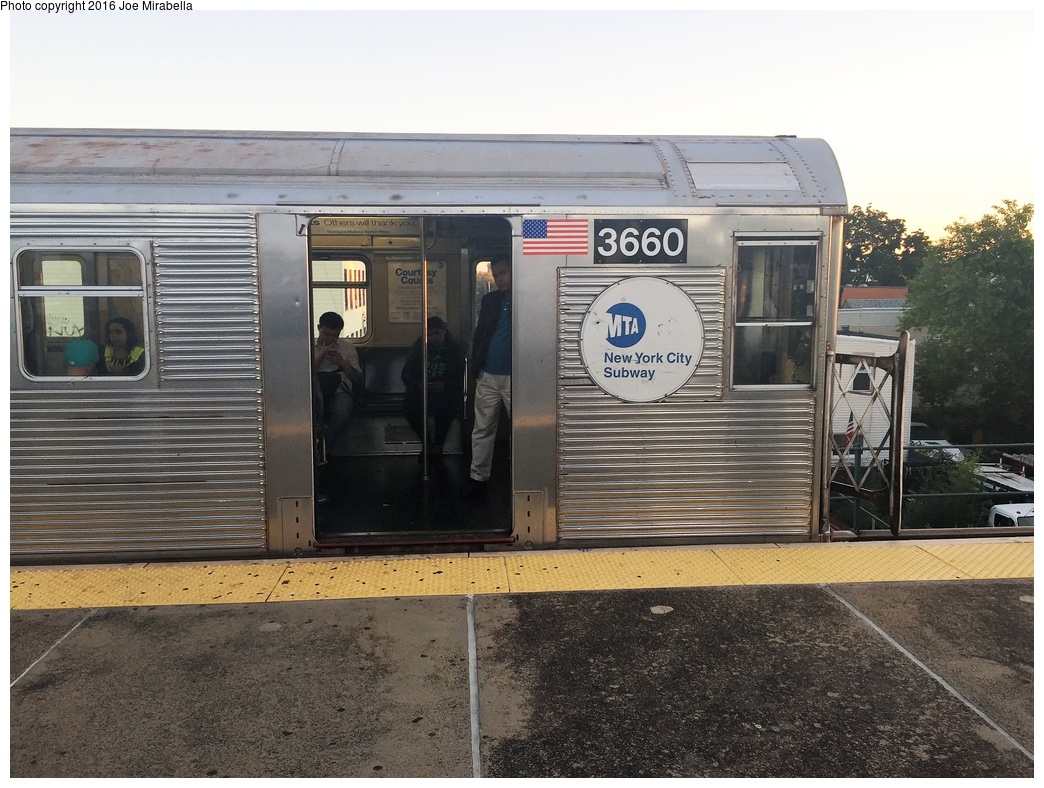 (350k, 1044x788)<br><b>Country:</b> United States<br><b>City:</b> New York<br><b>System:</b> New York City Transit<br><b>Line:</b> BMT Nassau Street/Jamaica Line<br><b>Location:</b> Van Siclen Avenue <br><b>Route:</b> J<br><b>Car:</b> R-32 (Budd, 1964)  3660 <br><b>Photo by:</b> Joe Mirabella<br><b>Date:</b> 10/10/2015<br><b>Viewed (this week/total):</b> 2 / 995