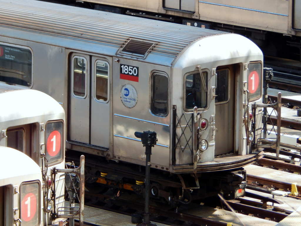 (316k, 1024x768)<br><b>Country:</b> United States<br><b>City:</b> New York<br><b>System:</b> New York City Transit<br><b>Location:</b> 240th Street Yard<br><b>Car:</b> R-62A (Bombardier, 1984-1987)  1850 <br><b>Photo by:</b> Joe Mirabella<br><b>Date:</b> 4/3/2016<br><b>Viewed (this week/total):</b> 2 / 934