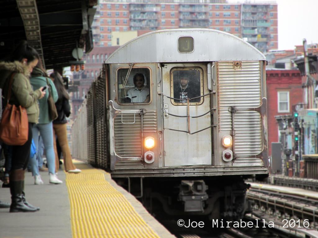 (330k, 1024x768)<br><b>Country:</b> United States<br><b>City:</b> New York<br><b>System:</b> New York City Transit<br><b>Line:</b> BMT Nassau Street/Jamaica Line<br><b>Location:</b> Marcy Avenue <br><b>Route:</b> J<br><b>Car:</b> R-32 (Budd, 1964)  3706 <br><b>Photo by:</b> Joe Mirabella<br><b>Date:</b> 3/19/2016<br><b>Viewed (this week/total):</b> 0 / 890