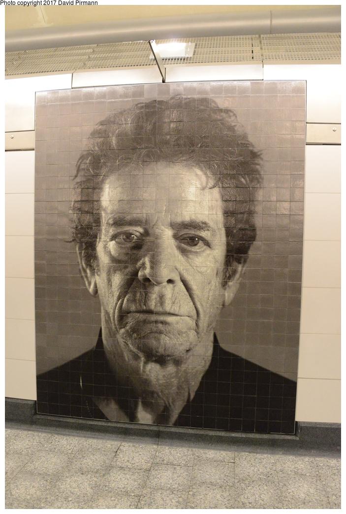 (287k, 703x1043)<br><b>Country:</b> United States<br><b>City:</b> New York<br><b>System:</b> New York City Transit<br><b>Line:</b> 2nd Avenue Subway<br><b>Location:</b> 86th Street <br><b>Photo by:</b> David Pirmann<br><b>Date:</b> 1/1/2017<br><b>Artwork:</b> <i>Subway Portraits</i>, Chuck Close (2016).<br><b>Viewed (this week/total):</b> 2 / 597