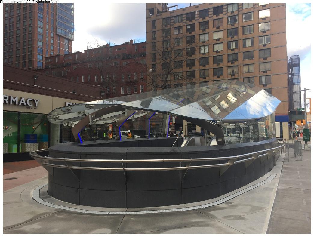 (299k, 1044x788)<br><b>Country:</b> United States<br><b>City:</b> New York<br><b>System:</b> New York City Transit<br><b>Line:</b> 2nd Avenue Subway<br><b>Location:</b> 96th Street <br><b>Photo by:</b> Nicholas Noel<br><b>Date:</b> 12/30/2016<br><b>Notes:</b> Finishing touches two days before opening.<br><b>Viewed (this week/total):</b> 0 / 573