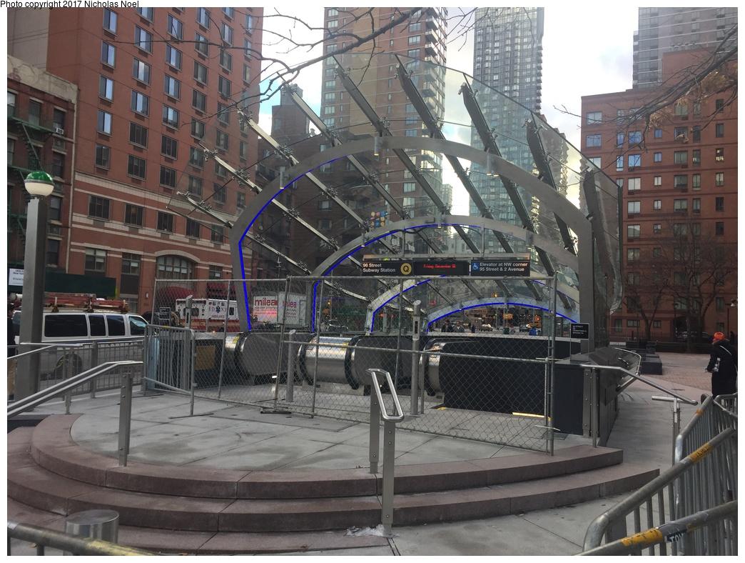 (354k, 1044x788)<br><b>Country:</b> United States<br><b>City:</b> New York<br><b>System:</b> New York City Transit<br><b>Line:</b> 2nd Avenue Subway<br><b>Location:</b> 96th Street <br><b>Photo by:</b> Nicholas Noel<br><b>Date:</b> 12/30/2016<br><b>Notes:</b> Finishing touches two days before opening.<br><b>Viewed (this week/total):</b> 2 / 608