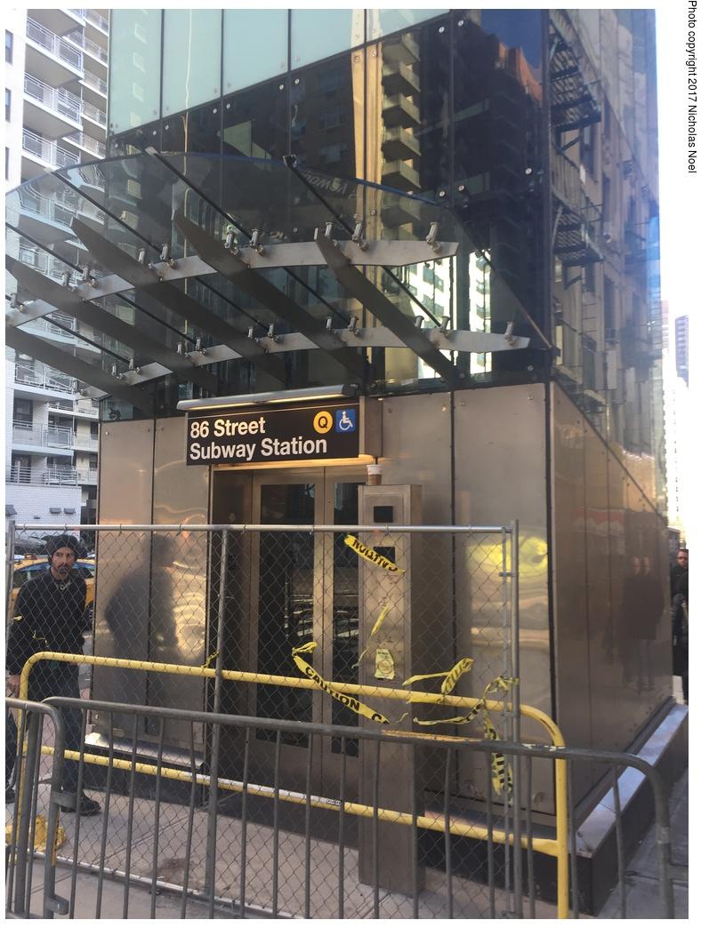 (323k, 788x1044)<br><b>Country:</b> United States<br><b>City:</b> New York<br><b>System:</b> New York City Transit<br><b>Line:</b> 2nd Avenue Subway<br><b>Location:</b> 86th Street <br><b>Photo by:</b> Nicholas Noel<br><b>Date:</b> 12/30/2016<br><b>Notes:</b> Finishing touches two days before opening.<br><b>Viewed (this week/total):</b> 1 / 484