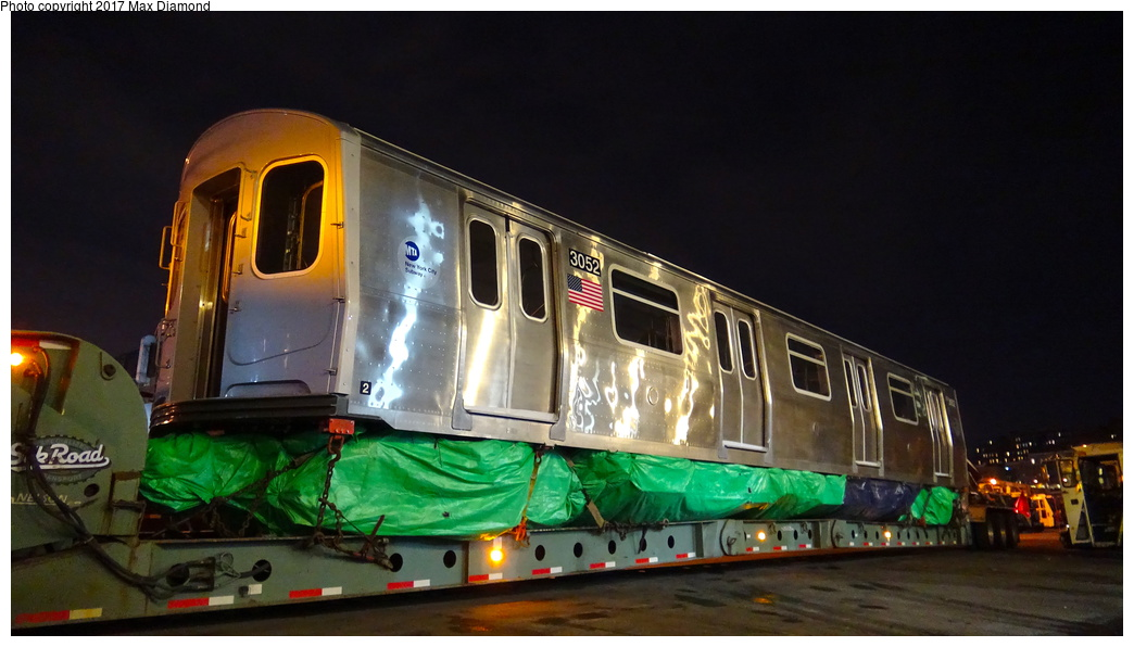 (218k, 1044x596)<br><b>Country:</b> United States<br><b>City:</b> New York<br><b>System:</b> New York City Transit<br><b>Location:</b> 207th Street Yard<br><b>Car:</b> R-179 (Bombardier, 2016-) 3052 <br><b>Photo by:</b> Max Diamond<br><b>Date:</b> 12/21/2016<br><b>Notes:</b> Delivery to 207th St. Yard.<br><b>Viewed (this week/total):</b> 0 / 503